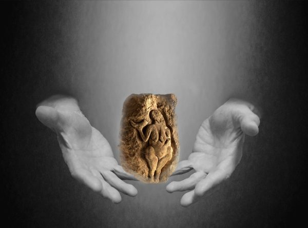 The past in our hands - Venus de Laussel. Image by Yky.