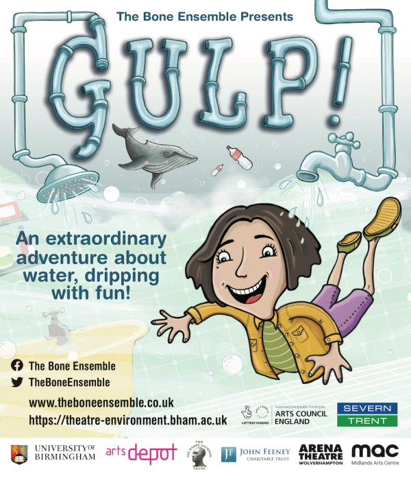 Gulp! flyer for The Bone Ensemble theatre project