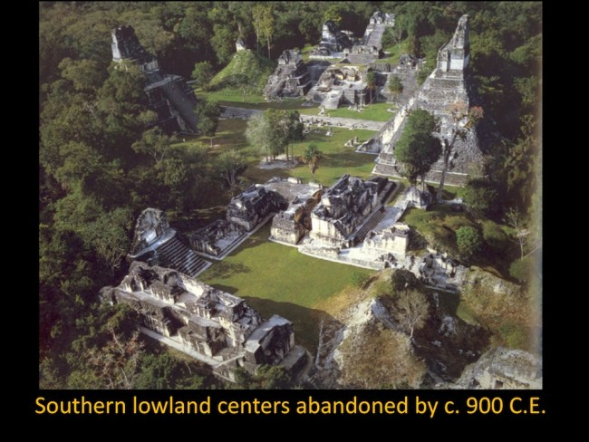 Showing an abandoned Mayan city, Tikal