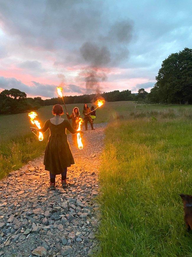 Conversation with the season: Showing a Solstice Firewalk, by Tess Gordziejko