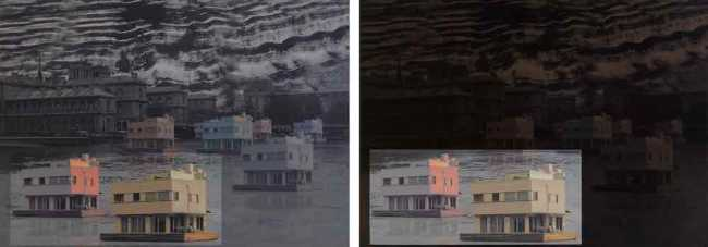 Managed retreat: Showing 'La Seine, a diptych at D0 and D+' by Yky