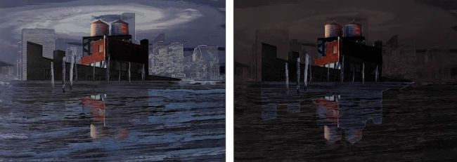 'Managed retreat: Showing 'Is NYC retreat inevitable? a diptych at D0 and D+' by artist Yky