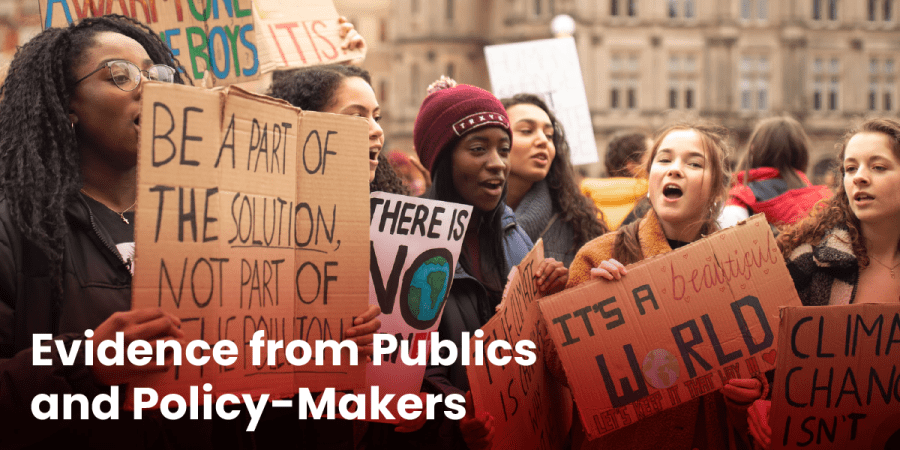 Evidence from Public and Policy-Makers