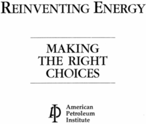 American Petroleum Institute, Reinventing Energy, Climate Change
