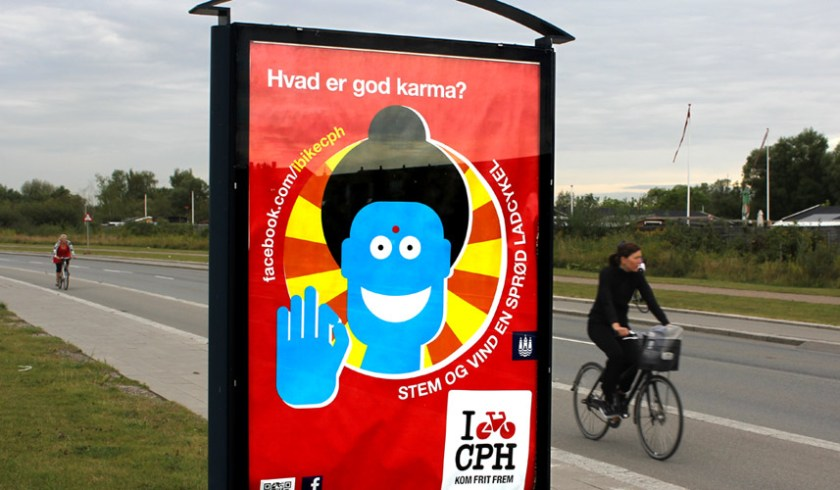 Good Karma billboard in Copenhagen