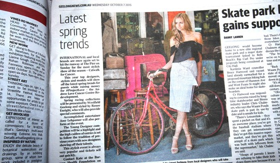 'Latest spring trends...' now come with a bicycle and freedom from the mandatory helmet