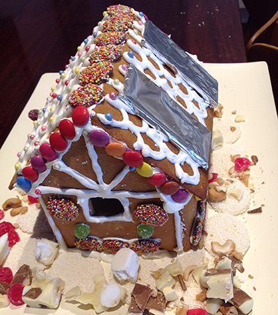 Solar Gingerbread House