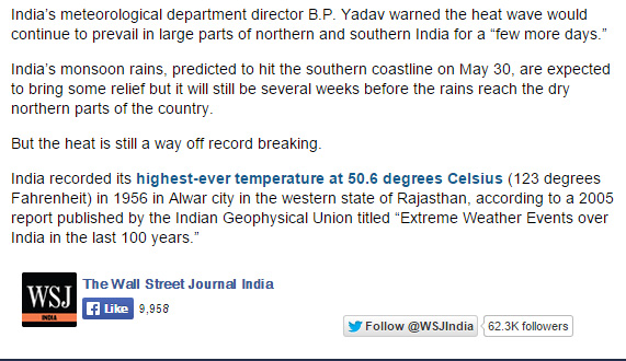Wall-Street-Journal-WSJ-cherry-picking-science-data-2015-India-heat-wave