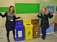 We had some laughs pondering all the creative means people were using to be truly litter-free at this conference, but sometimes, they just stood there, confused!