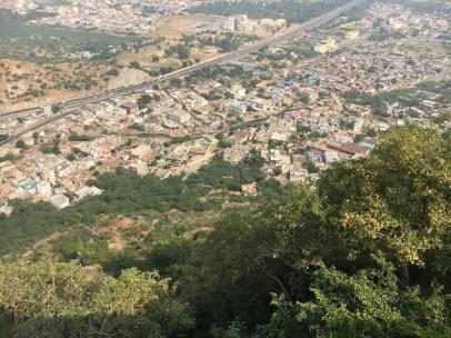 View from the Chulgiri Jain Temple