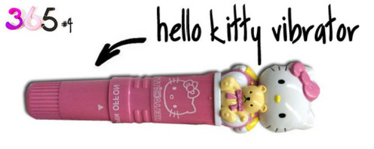 Dit is een afbeelding van de hello kitty vibrator