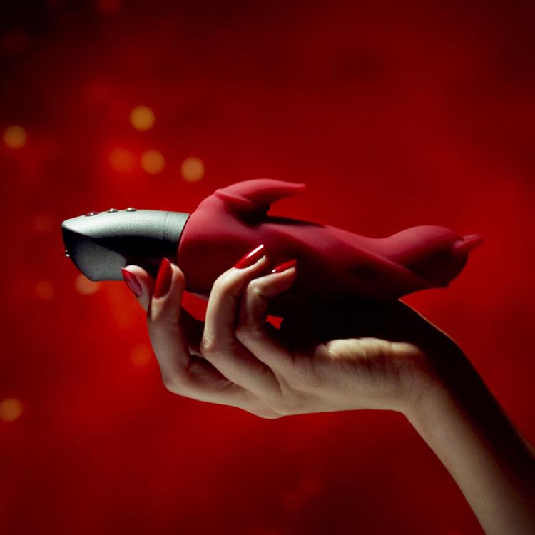 Dit is een afbeelding van darling devil rood mood vibrator