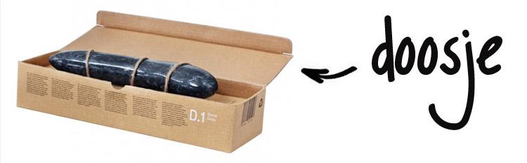 Dit is een afbeelding van laid d 1 stone dildo review package
