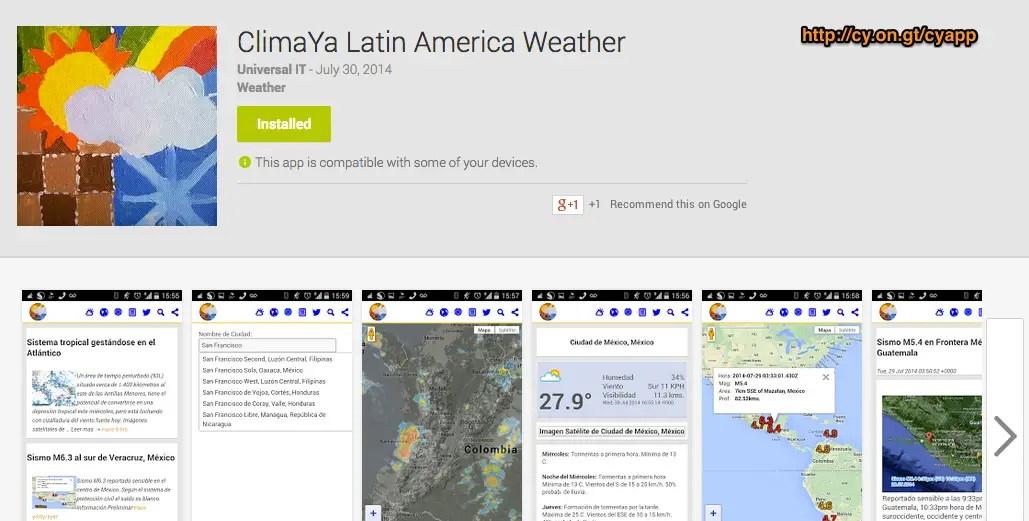 Aplicaci n del clima archives climaya for Aplicacion del clima