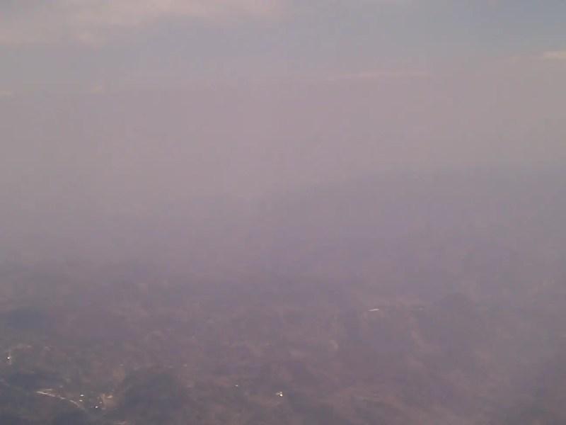 Baja visibilidad por incendios - Archivo