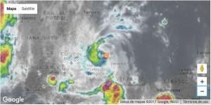 Huracán Katia 10pm hora local (México) ya en tierra