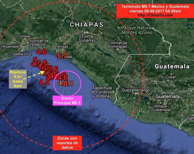 Danos En Chiapas Oaxaca Y Guatemala Por Sismo M8 1 Climaya