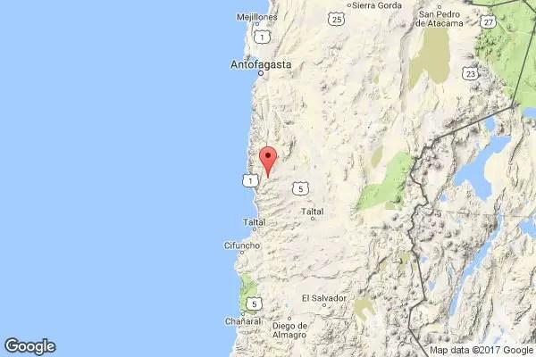 Sismo M5.6 a 12 km. de Morrales, Antofagasta Chile Fecha: 2017-12-28 03:54:52 GMT Prof.: 38 km