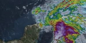 Imagen satélite de Alberto frente a Cancún