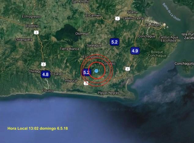 Último sismo ~M5.5 13:02h 6.5.18