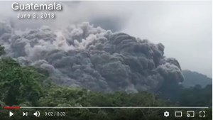 Video Flujo piroclástico 3.jun.2018 Volcán Fuego. Guatemala. https://www.youtube.com/watch?v=8Ryc3lN7l98
