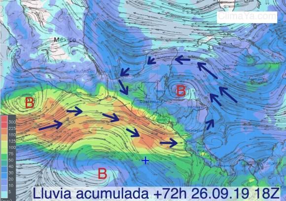 Lluvias y análisis previsto domingo 29.09.2019