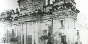 Daños a la Catedral Metropolitana de Guatemala luego de los terremotos de 1917 - 1918