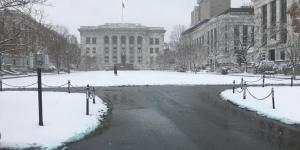 Escuela de Medicina de Harvard en Boston esta mañana