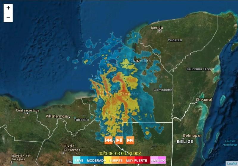 Imagen de radar, puedes consulta en nuestro sitio climaya.com/radar