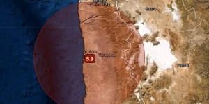 MAG 5.9 2 km SSE of Iquique, Chile Hora UTC: 2020-07-17 05:40:36.322Z Profundidad: 73.82 kms. Fuente: USGS