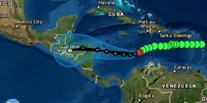 Depresión Tropical 31 y posible trayectoria de 5 días - Vie 13.11.2020 / Fuente: NHC Mapa: ClimaYa.com