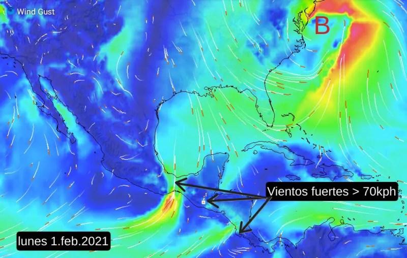 Vientos fuertes anunciarán la llegada del aire frío el lunes
