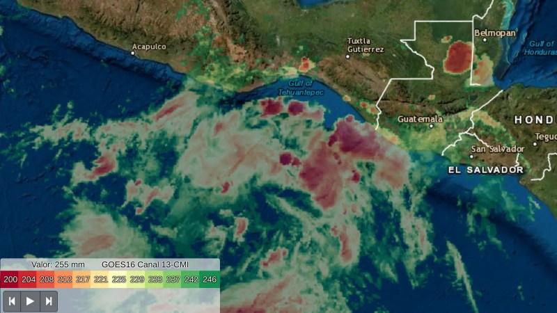 Baja presión al sur del Istmo de Tehuantepec
