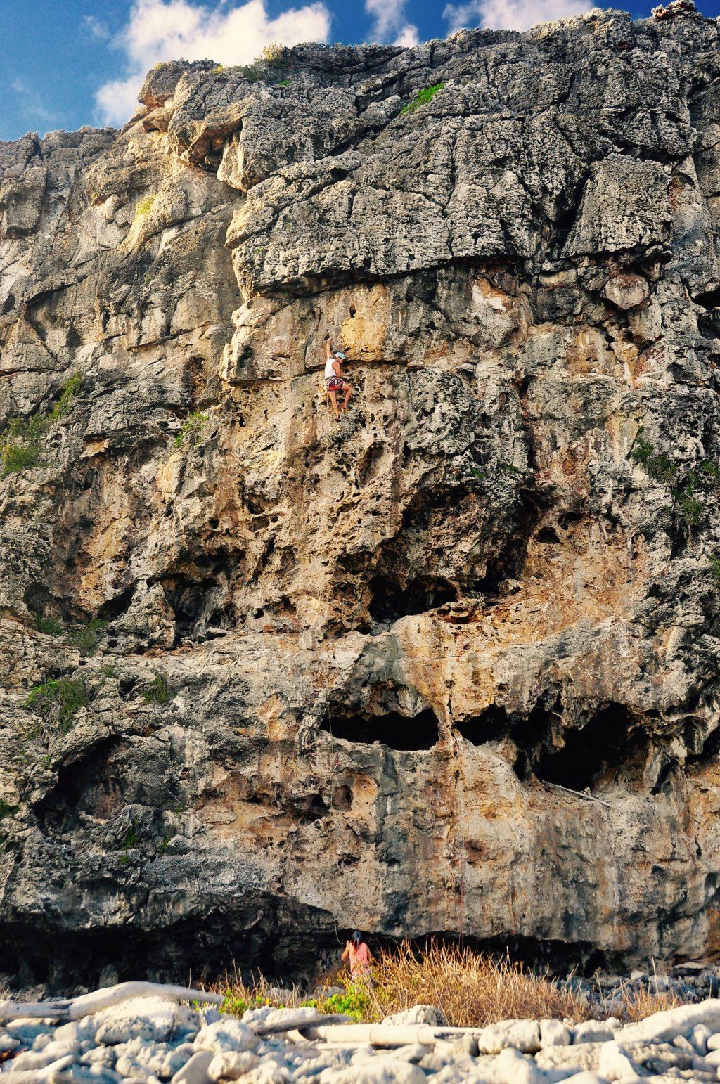 Climbing Cayman Brac - David