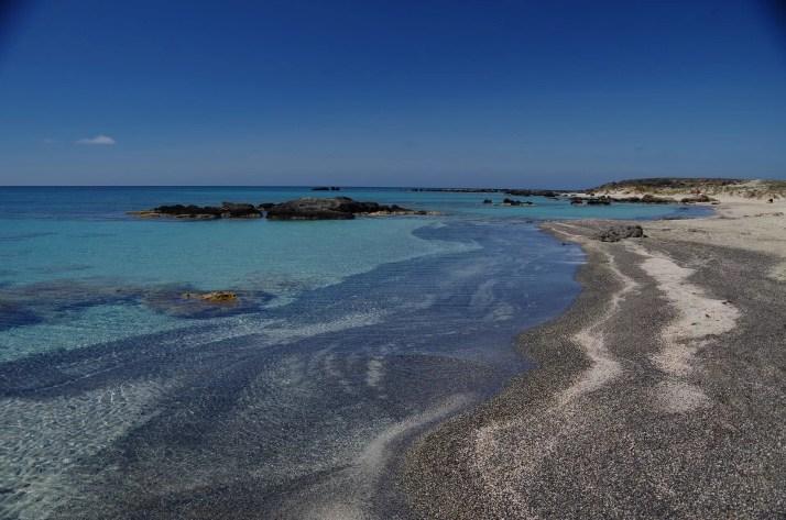 Piękno plaży Elafonisi