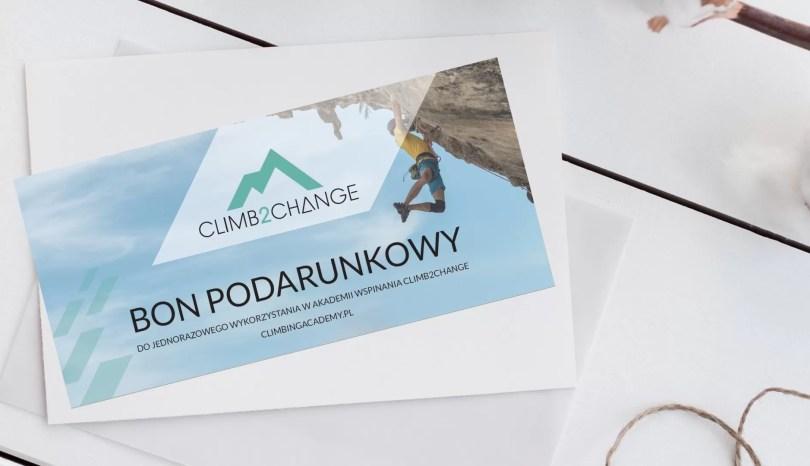 Bon podarunkowy do Akademii Wspinania climb2change to nasza nowość - proponujemy taki bon jako prezent na Mikołaja lub na święta