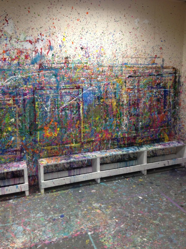 Paint Splatter Canvas Art