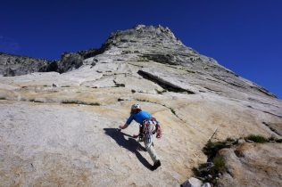 Running up Tenaya