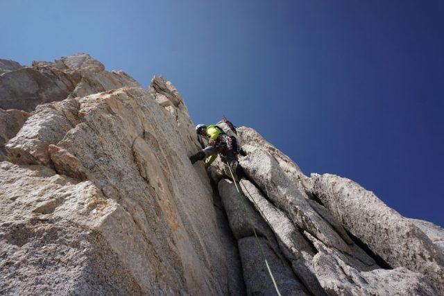 Climbing the North Arete
