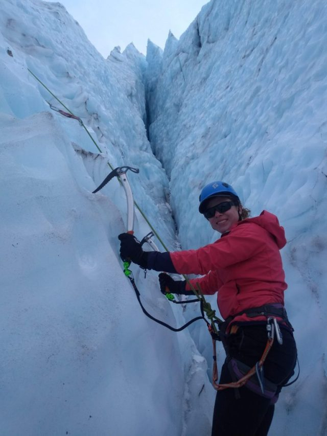 Kylie Ice Climbing