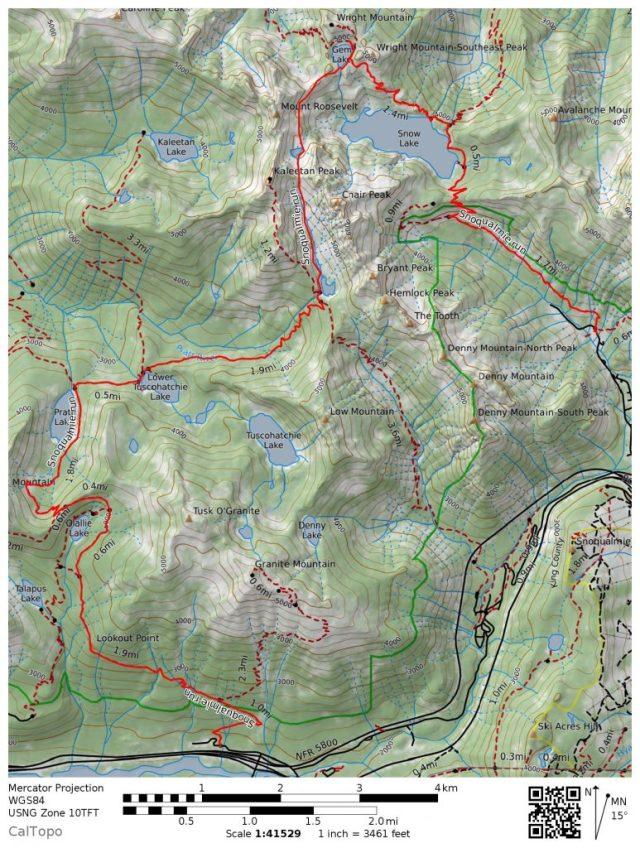 Pratt-Melakwa Run Map