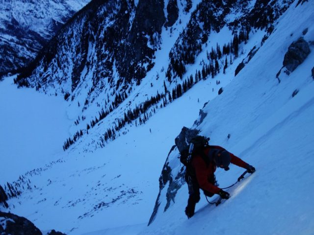 Triple Couloir Ascent