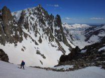 Skiing Bonney Pass