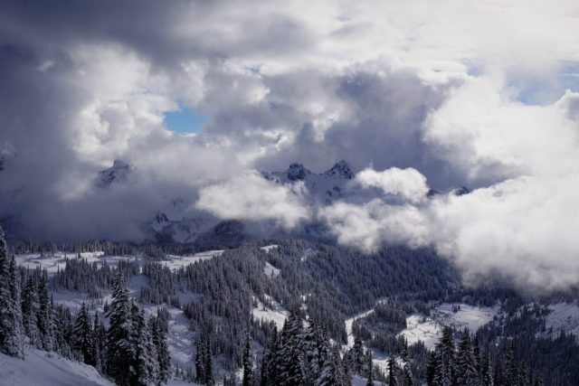 Tatoosh in Clouds