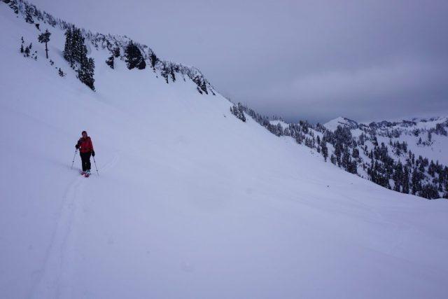 Traversing over avalanche debre