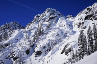 Bryant Peak and couloir on the right.
