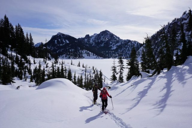 Skinning above Snow Lake