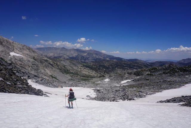 Descending North Glacier Pass