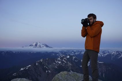 Daniel taking some great photos in the twilight.