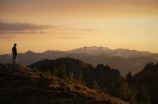 Fading light over Mt. Daniel.